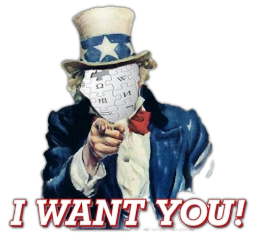 I want you for Wikipedia