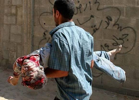 Guerra, violenza e morte nella striscia di Gaza.
