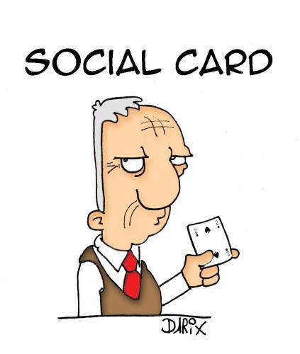 La spesa con la Social Card (vuota).
