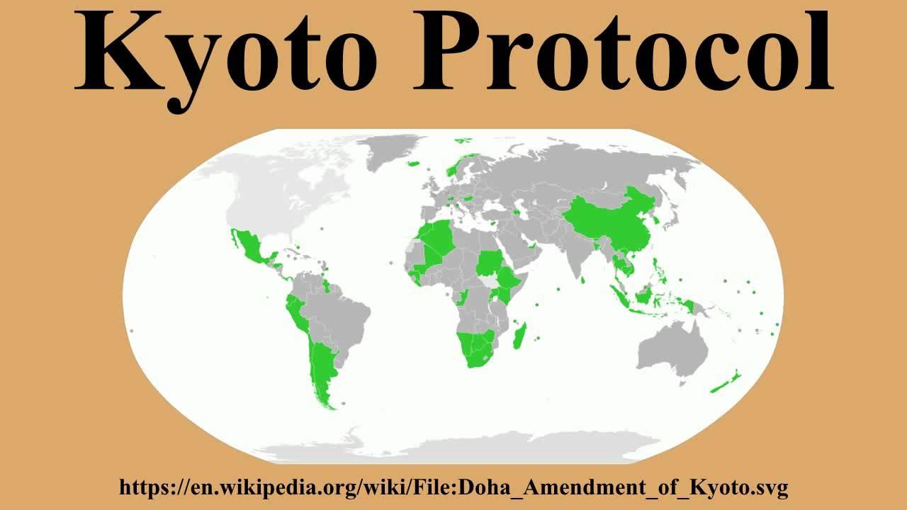 Il protocollo di Kyoto festeggia il suo quarto anniversario.