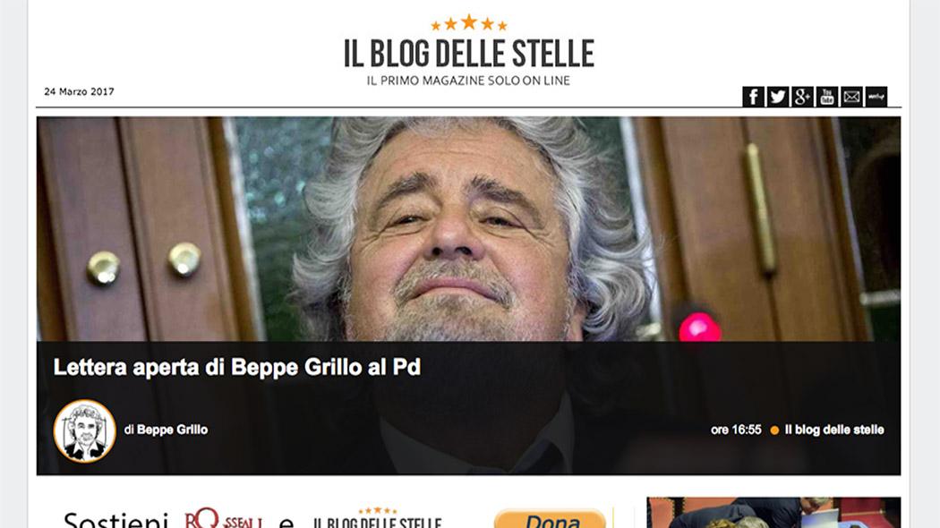 Beppe Grillo e la candidatura alle primarie del Pd.