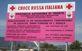 Ma quali case costruite da Governo! Quelle di Onna sono merito della CRI e del Trentino!