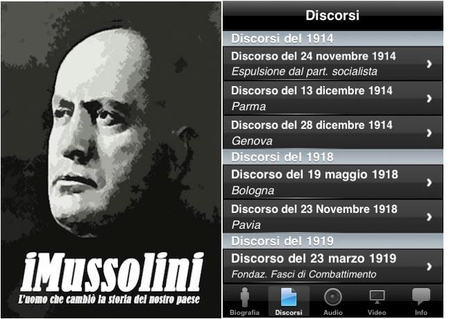 iPhone, l'applicazione iMussolini viene tolta dall'App Store.