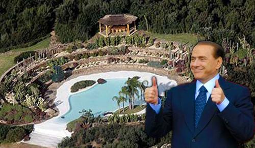 Villa Certosa, nuovi Bungalow per Silvio. Grazie al piano casa.
