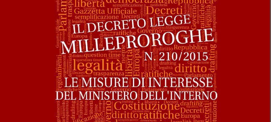 Decreto Milleproroghe 2010, tutte le novità.