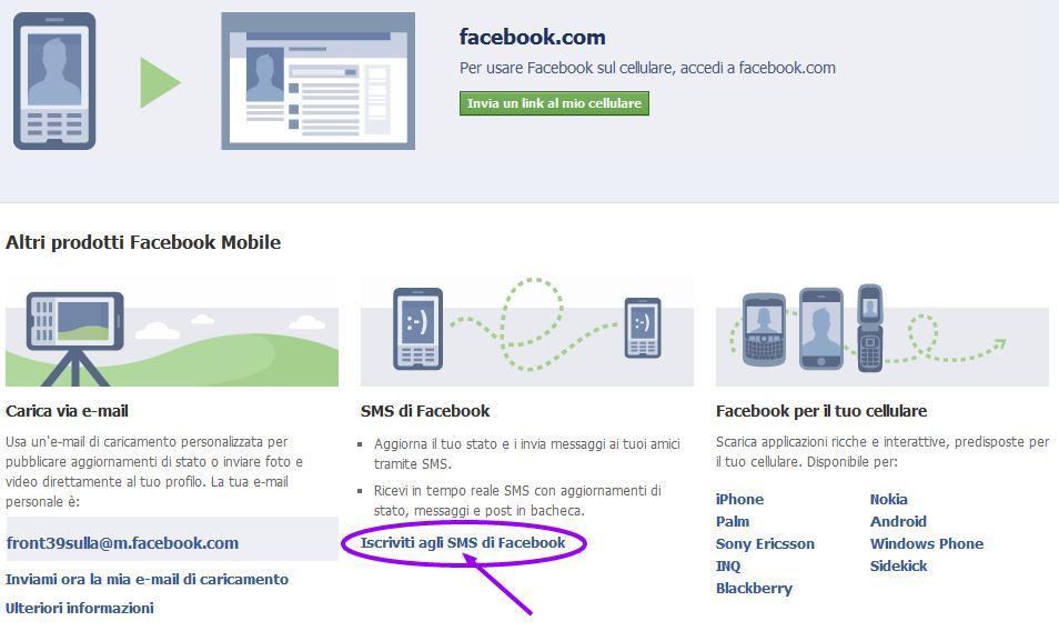 Facebook e SMS gratis: come abilitare le notifiche SMS