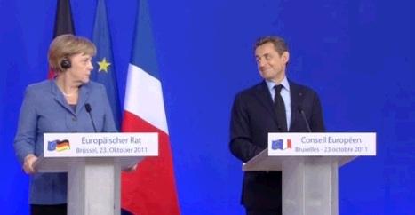 Sarkozy e Merkel se la ridono. Di Berlusconi e dell'Italia.