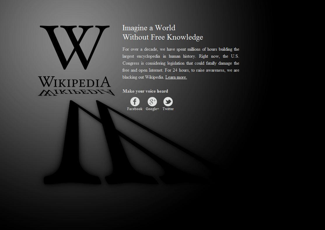 SOPA al vaglio e Wikipedia va in sciopero per 24 ore