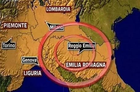 Scosse di terremoto colpiscono il Nord Italia. Pochi danni ma tanta paura.