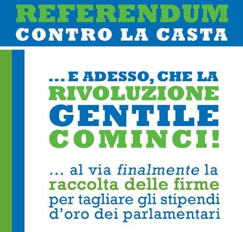 Referendum contro i privilegi dei parlamentari. E' legittimo?
