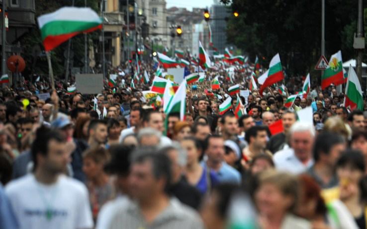 Crisi, proteste anche in Bulgaria