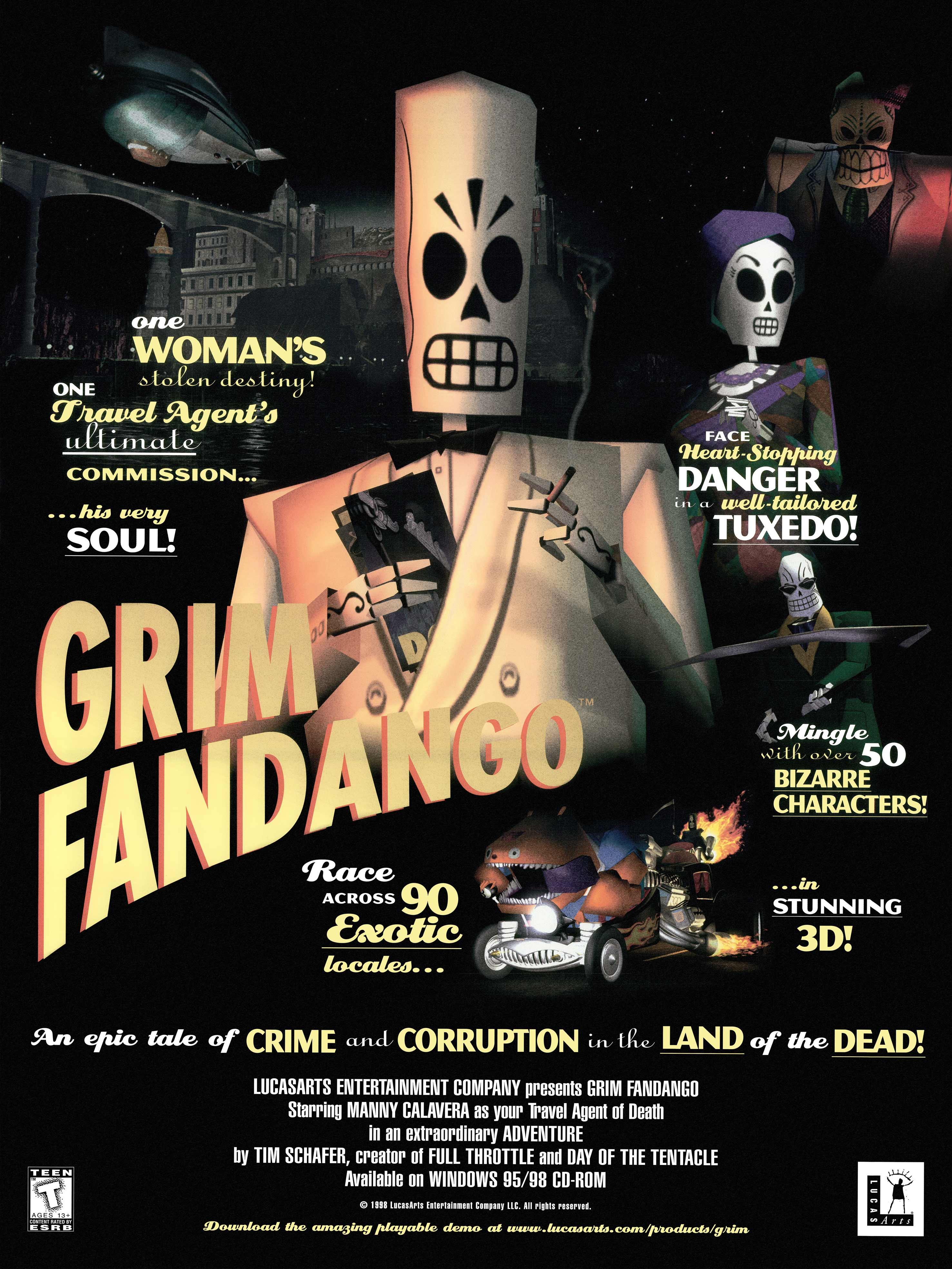 Grim Fandango Remastered - Chi muore si rivede