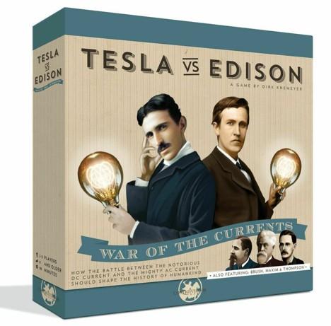 Tesla vs. Edison – War of Currents. Il boardgame che vi metterà nei panni degli eroi della Guerra delle Correnti
