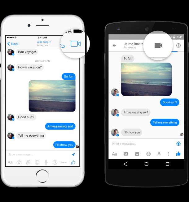 Da oggi si possono fare videochiamate col Messenger di Facebook
